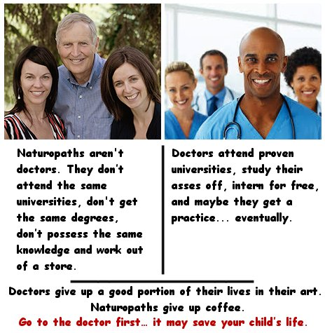 naturopaths vs doctors