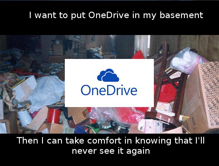 OneDrive Belongs in Basement